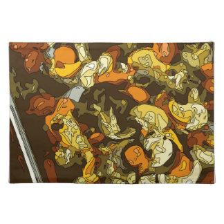 Gegrillte Karotten Zucchini und Pilz-Teller Tisch Sets