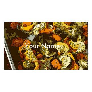 Gegrillte Karotten Zucchini und Pilz-Teller Visitenkarten Vorlage