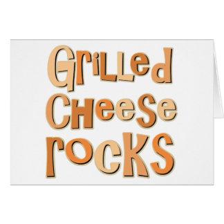 Gegrillte Käse-Felsen Grußkarte