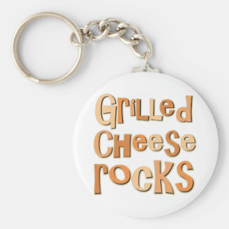 Gegrillte Käse-Felsen Standard Runder Schlüsselanhänger