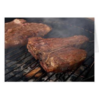 Gegrillte Porterhouse-Steak-Karte Grußkarte