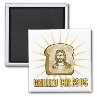 Gegrillter Cheesus Magnet Kühlschrankmagnet