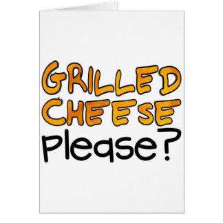 Gegrillter Käse bitte? Grußkarte