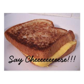gegrillter Käse, sagen Cheeeeeeeeese!!! Postkarte