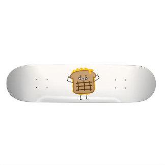 Gegrillter Käse-Sandwich-Cheddarkäse toastete Brot 19,7 Cm Skateboard Deck