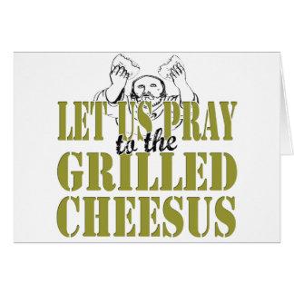 Gegrilltes Cheesus Grußkarten