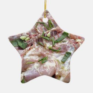 Gegrilltes Huhn auf dem Grill Weihnachtsbaum Ornament