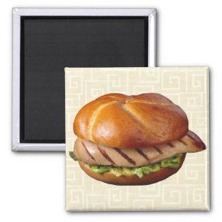 Gegrilltes Hühnerbrust-Sandwich Magnete