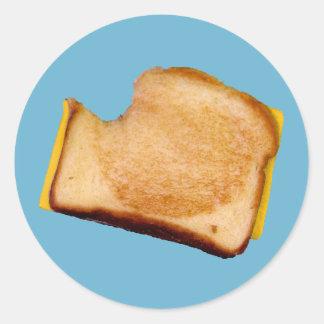 Gegrilltes Käse-Sandwich Runder Aufkleber