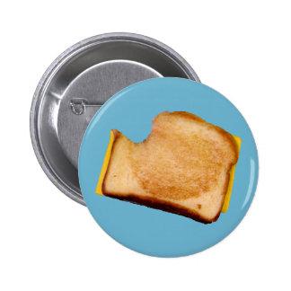 Gegrilltes Käse-Sandwich Runder Button 5,7 Cm