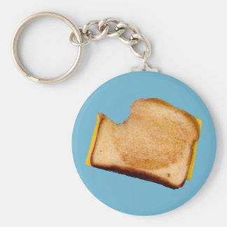 Gegrilltes Käse-Sandwich Standard Runder Schlüsselanhänger