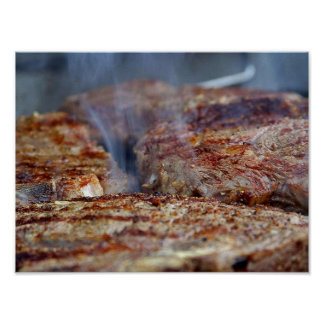 Gegrilltes Steak-Plakat Poster