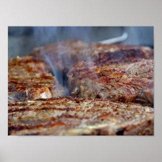 Gegrilltes Steak-Plakat Poster