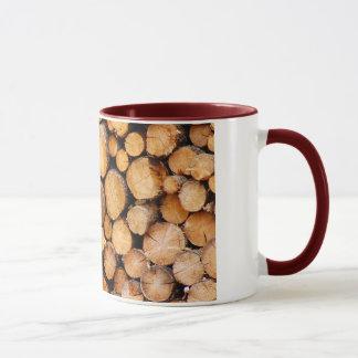 Gehackte Brennholzkaffee-Tasse Tasse