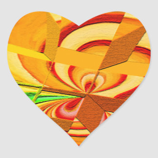 Gehackte Kunst-Herz-Aufkleber Herz-Aufkleber