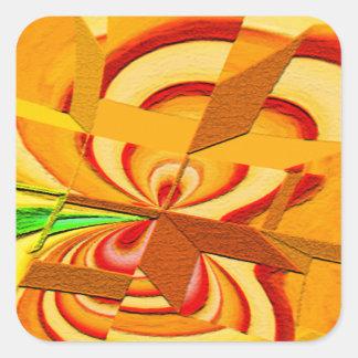 Gehackte Kunst-Quadrat-Aufkleber Quadratischer Aufkleber