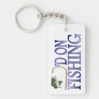 Gehakt auf der Fischerei von Keychain Schlüsselanhänger