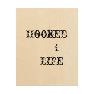 Gehaktes Leben 4 Holzdruck