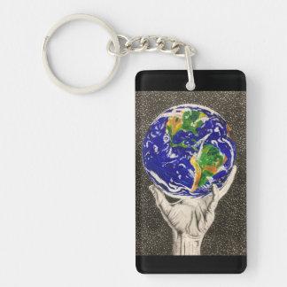 Gehaltener Erdeschlüsselring/keychain Schlüsselanhänger