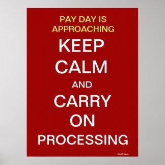 Gehaltsabrechnungsabteilungs-Abrechnungstag-motivi Poster