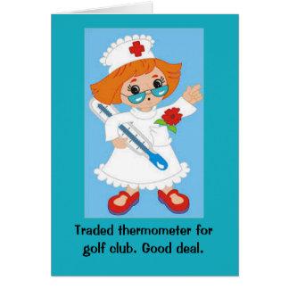 Gehandelter Thermometer für Golfclub - gutes Karte