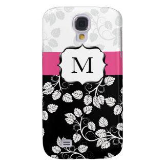 Gehäuse des Monogrammdamast-Rosas 3 Galaxy S4 Hülle