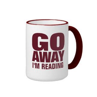 , Gehe ich lese lustige Kaffee-Tassen weg Ringer Tasse
