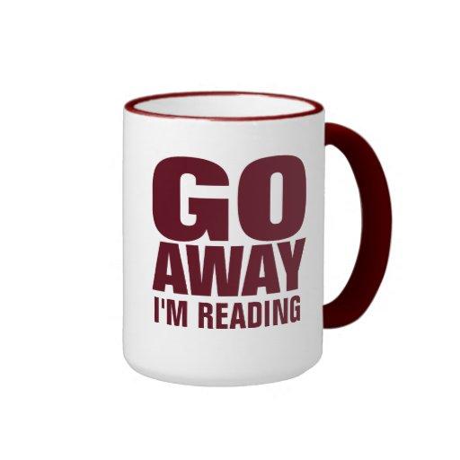 , Gehe ich lese lustige Kaffeetassen weg