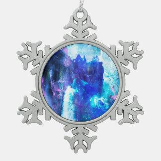 Geheime Bucht Schneeflocken Zinn-Ornament