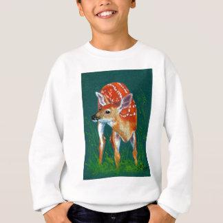 Geheime Rotwild-Kitz-wild lebende Tiere Sweatshirt