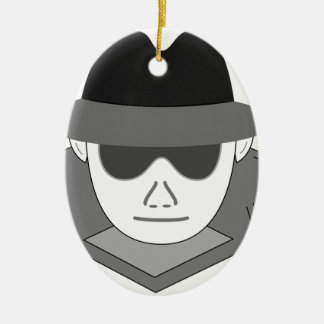 Geheimer Spion Keramik Ornament