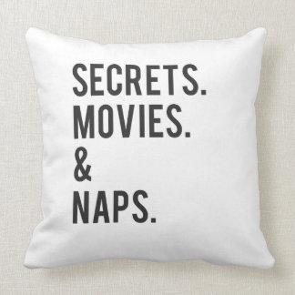 Geheimnis-Film-und Nickerchen-Druck Kissen
