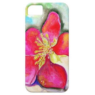 Geheimnis-rosa BlumeWatercolor Hülle Fürs iPhone 5