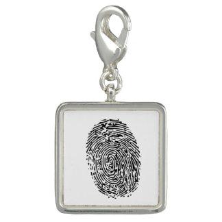 Geheimnis-schwarzer Fingerabdruck Foto Charms