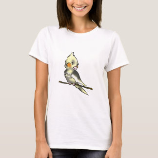 Geheimnistuerischer Cockatiel-DamenBabydoll T-Shirt