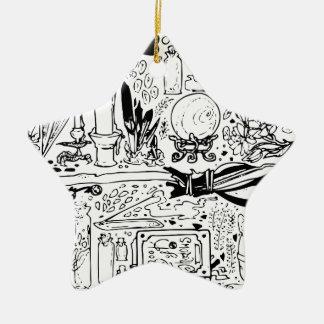 Geheimnisvoll und magisch keramik Stern-Ornament