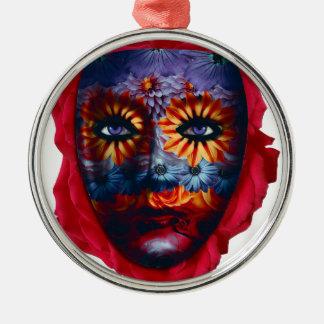 Geheimnisvolle Maske - Mystery Mask Silbernes Ornament