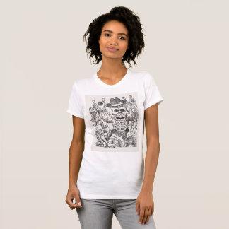 Geheimnisvolle Schädel-Tinte, die T - Shirt, T-Shirt