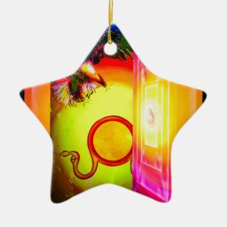 Geheimnisvolle Welt 2 Keramik Stern-Ornament