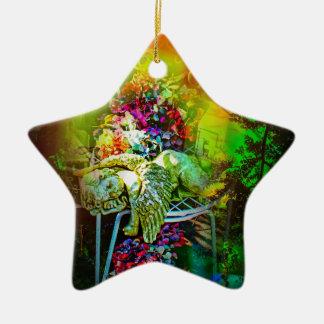 Geheimnisvolle Welt 3 Keramik Stern-Ornament