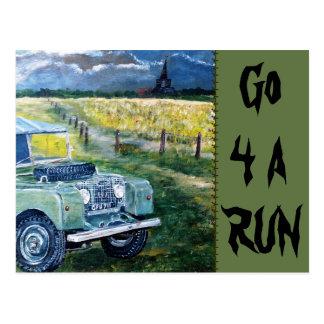 Gehen 4 eine Laufpostkarte Postkarte
