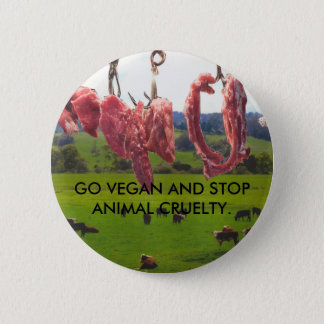 Gehen Abzeichen veganes Runder Button 5,1 Cm