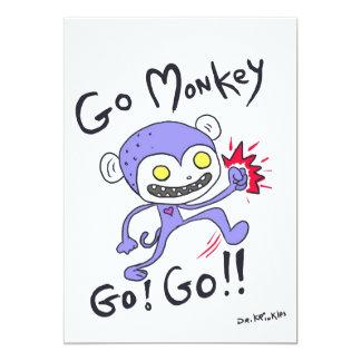 Gehen Affe gehen! 12,7 X 17,8 Cm Einladungskarte