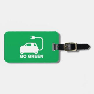 Gehen ~ Antriebs-elektrische Autos grüner Gepäckanhänger