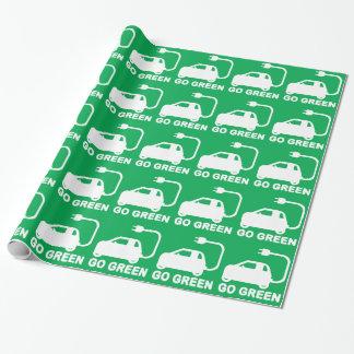 Gehen ~ Antriebs-elektrische Autos grüner Geschenkpapier