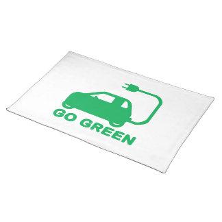 Gehen ~ Antriebs-elektrische Autos grüner Stofftischset