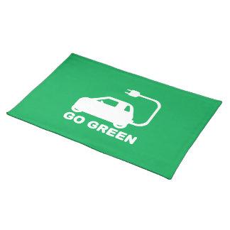 Gehen ~ Antriebs-elektrische Autos grüner Tischset