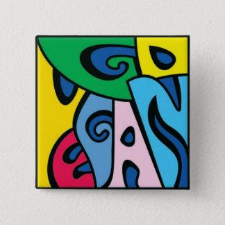 GEHEN - Art 1 VEGAN Quadratischer Button 5,1 Cm