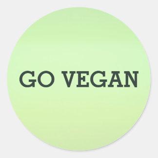 Gehen Aufkleber-Set veganes Runder Aufkleber