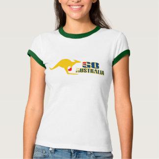 Gehen Australien-Verpackenkänguruh-Damen-T - Shirt